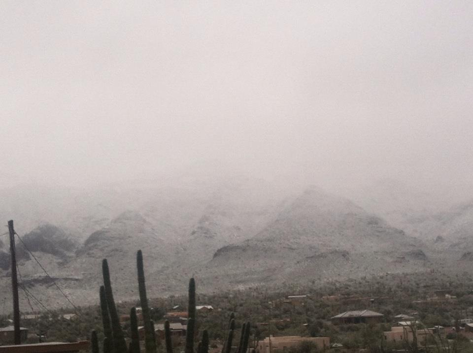 Snow in the Arizona Desert